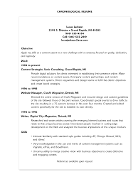 100 example of a good chronological resume resume