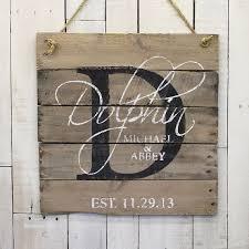 custom wedding presents wedding custom wood name sign custom wedding gift pallet