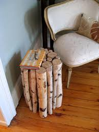Making A Small End Table by Birch Side Table U003c3 I Actually Have A Huge Tree Branch On My Front