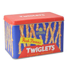 peek freans twiglets metal storage tin retro kitchen vintage