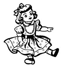 doll clipart black white pencil color doll clipart