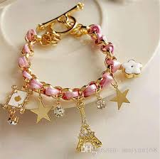leather star bracelet images Star flower poker a paris eiffel tower crown rope braid bracelet jpg