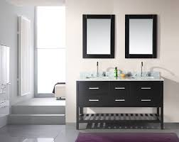 double sink bathroom vanity ideas floating rich dark wood vanity