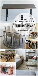 Plans To Build End Tables by Remodelaholic 18 Easy Table Building Plans