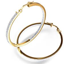14k gold hoop earrings two tone hoop earrings in 14k white yellow gold