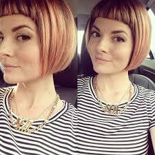 chin cut hairbob with cut in ends short bangs blunt bob chin length hair lunatic fringe salon