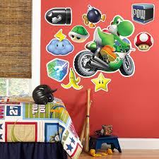 mario kart wii party supplies birthdayexpress com mario kart wii yoshi giant wall decal