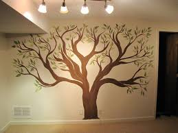good picture of home interior and kid bedroom decoration using good picture of home interior and kid bedroom decoration using light brown green tree mural painting ideas including ceiling mount white glass light