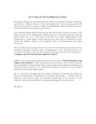 a great letter of recommendation image collections letter