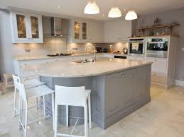 grey kitchen island best 25 curved kitchen island ideas on area for