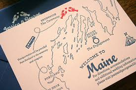 wedding invitations island george s travel inspired maine wedding invitations