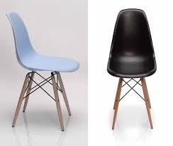 chaise 4 pieds lot de 4 chaises pieds bois design 3 couleurs nouvel interieur