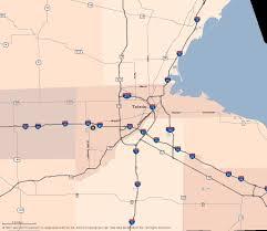 Toledo Ohio Map Travel Midwest Toledo Map