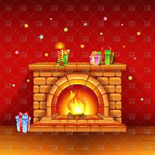 christmas fireplace video ideas download royalty free vector file