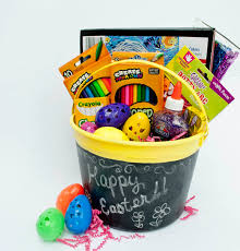 easter baskets for kids how to make a chalkboard easter basket crafts coloring and arts