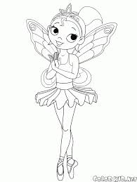 coloring page barbie ballerina