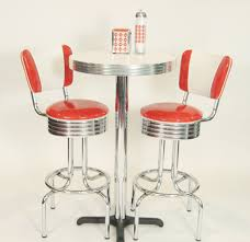 Kitchen Bar Table And Stools Pub Table Sets Retro Bar Kitchen Restaurant Diner Usa