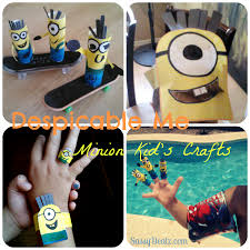 list of cheap u0027despicable me u0027 crafts for kids toilet paper rolls