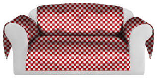 Couch And Chair Covers Checkers Decorative Sofa Couch Covers Collection Red White