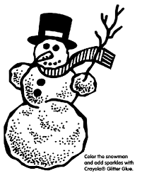 snowman coloring crayola