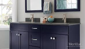 Merillat Bathroom Vanity Merillat Masterpiece Martel In Maple Midnight Painted
