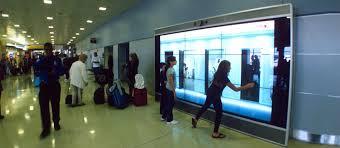 wall display advertising using interactive digital wall display