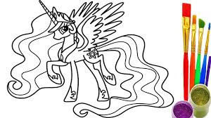 how to draw rainbows my little pony coloring pages drawing and