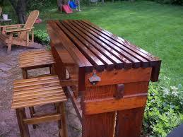 Outdoor Bar Table Cool Diy Outdoor Bar Table
