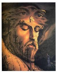 jesus face and jesus on a cross tattoo design tattooshunt com