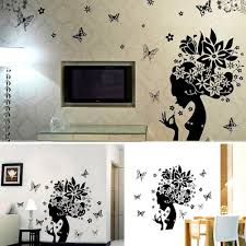 1pcs 50 70cm wall sticker chic butterfly flower fairy girl we will shipping goods within 48 hours since you finished payment 2 parcel was shipped by russian air china post air mail 3 delivery date is 38 to 60 days