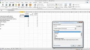 excel and questionnaires how to enter the data and create the