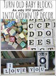 upcycled alphabet blocks trash to treasure baby blocks garage
