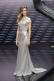rosie huntington whiteley silver sequin elegant dress transformers