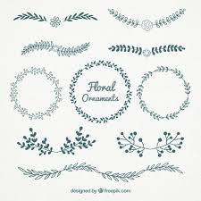 beautiful floral ornaments vector free