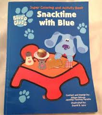 blue u0027s clues coloring book snack blue u0027s worth