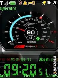 theme clock free nokia asha 206 speed digital clock app