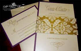 purple and gold wedding invitations purple and gold wedding invitation with brocade belly band a