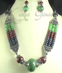 bead necklace ebay images Great deals from kaya jewels in sapphire necklace ebay stores jpg
