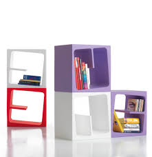 Bookcase Modular Modular Versatile Bookcase In Catchy Colors Quby By B Line