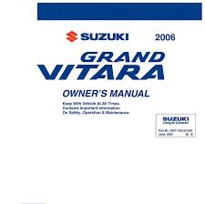 handleiding suzuki grand vitara 2006 pagina 1 van 279 english
