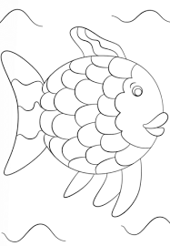 rainbow fish template coloring free printable coloring pages
