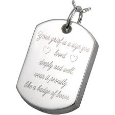 dog tag jewelry engraved dog tag pet cremation jewerly pendant