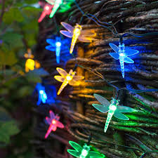 Solar Christmas Lights Australia - 30 multi coloured led dragonfly solar garden fairy lights by
