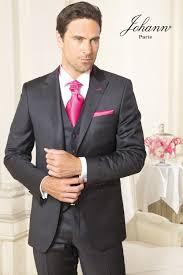 lavalli re mariage johann costume gris anthracite satiné et strawberry