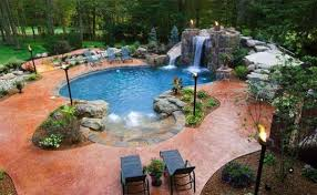 inspirierende ideen für pool im garten im tropischen stil