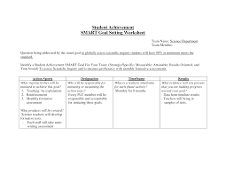 Smart Goals Worksheets 20 Best Images Of Smart Goal Setting Worksheet For Students