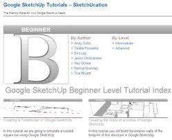 tutorial google sketchup 7 pdf 5 free tutorial websites to improve your google sketchup 3d design