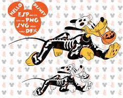 disney halloween pluto skeleton clipart disney cut files mouse