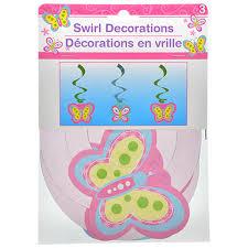 Bulk Happy Birthday Butterfly Hanging Swirl Decorations 3 ct