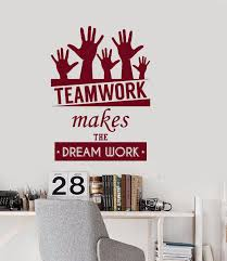 online get cheap wall decals quotes office aliexpress com new wall vinyl decal quotes teamwork dream work office inspire words bedroom free shipping china